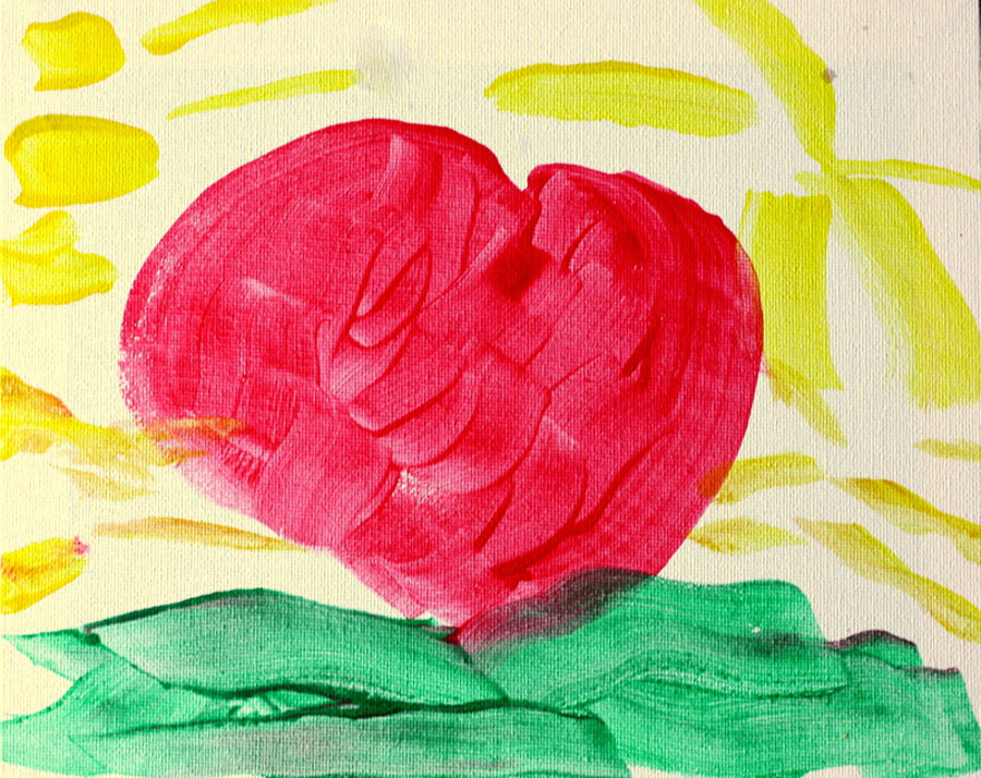 painting of a heart