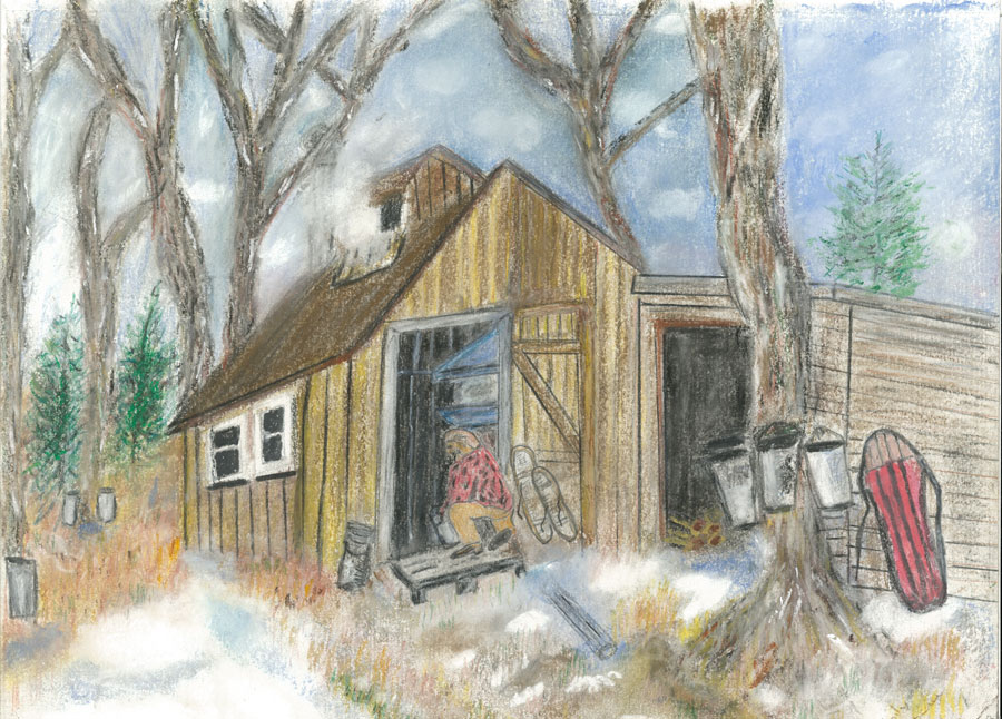 Sugar Shack, a painting by Emily Arbeau