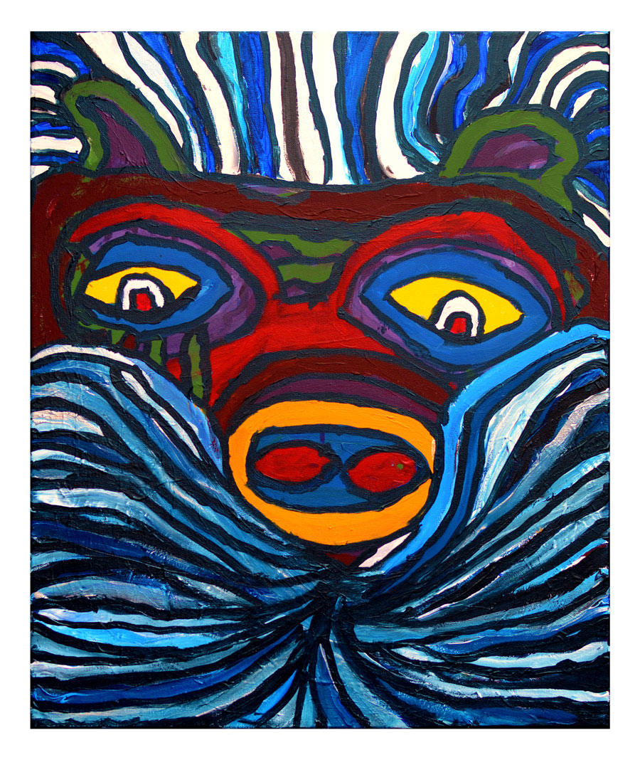 The wild wind - a painting by Greg Lannon
